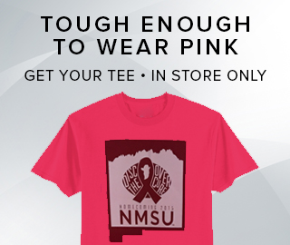 Picture of Cure tee.Tough enough to wear pink. Get your tee, in store only. Click to learn more.