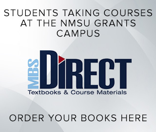 MBS Direct: textbooks & course materials. Students taking courses at the NMSU Grants campus, click to order your books here.